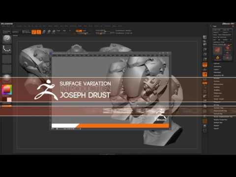 CGI 3D Tutorials : Zbrush Surface Variation Introduction