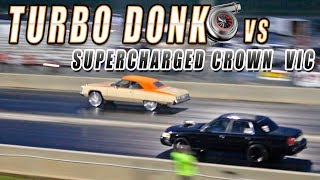 Gambar cover Donkmaster Takes TURBO LSX DONK against SUPERCHARGED CROWN VIC - Donk Racing