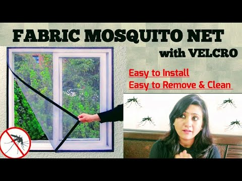 Fabric Velcro Mosquito Net | Easy To Install, Easy To Remove & Clean | Review & Demo | ABS