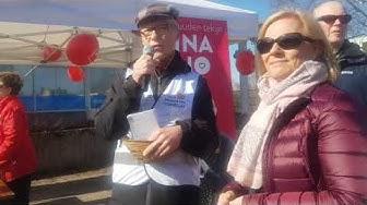 Ilkka Kantola Kunnallislehden vaalitorilla