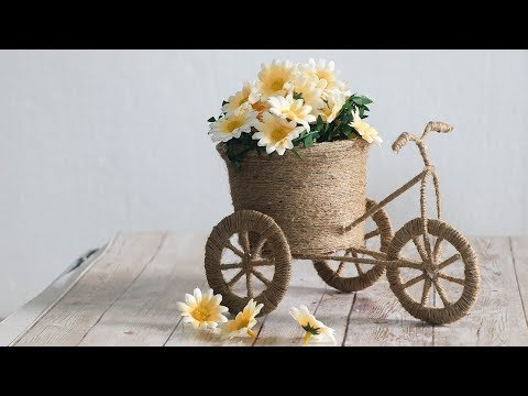 DIY JUTE BICYCLE | BEST  OUT OF WASTE CRAFTS| decorative cycle ideas | jute rope |