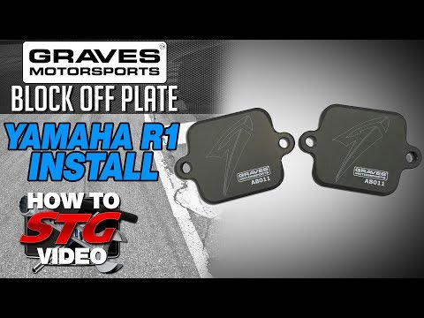 Graves Smog Block Off Plate Install on a 15-17 Yamaha YZF-R1