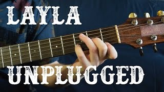 How to play Layla Unplugged Intro Solo - Eric Clapton (Part 2/3) Acoustic Guitar Lesson