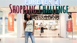1000 Rs Forever 21 Store Shopping Challenge - F 21 Shopping Haul #adityvlogs