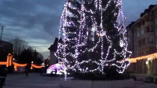 Luminite de Craciun la Campulung, decembrie 2015