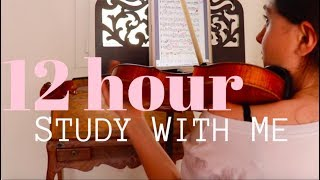 Study With Me | 12 hour Study Day
