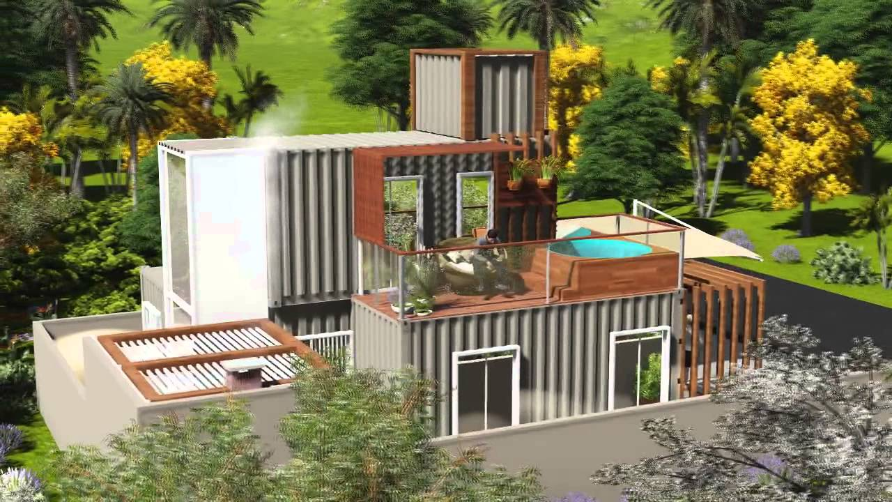 Villa container sc casa container florianopolis youtube for Villa container