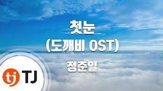 [TJ노래방] 첫눈(도깨비OST) - 정준일 / TJ Karaoke