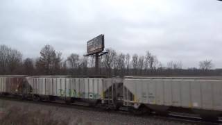 Railfanning - on Mineral Springs Rd - Chesterton, IN (1-25-17)