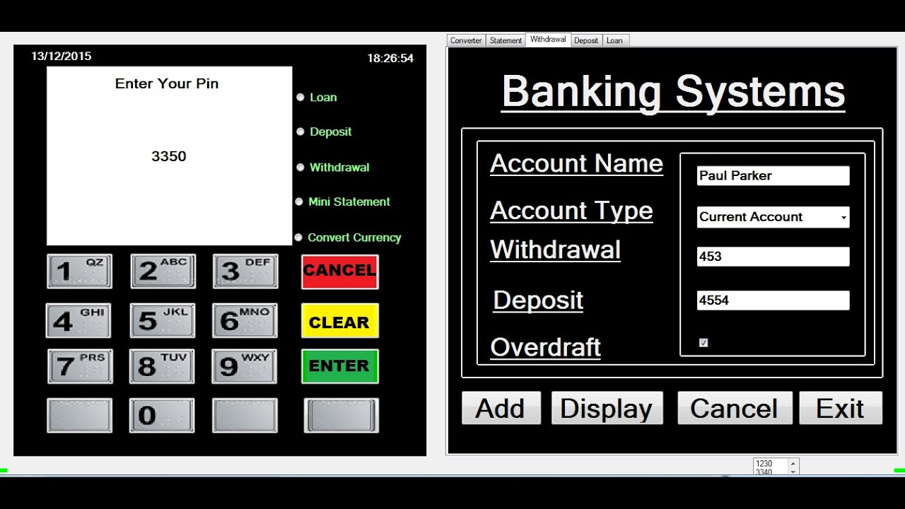 How to create ATM Banking Systems in Visual Basic Net Full Tutorial