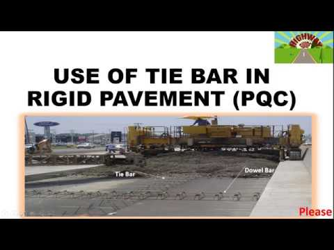 USE OF TIE BAR IN RIGID PAVEMENT(PQC)