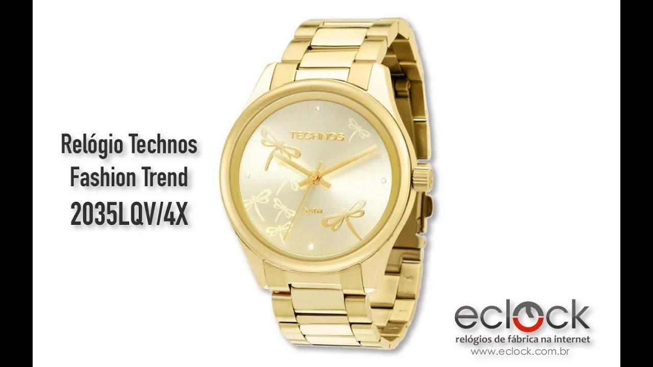 469e557b7d50d Relógio Technos Feminino Fashion Trend 2035LQV 4X Eclock