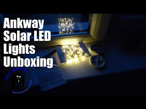 Ankway Solar LED Lights Unboxing