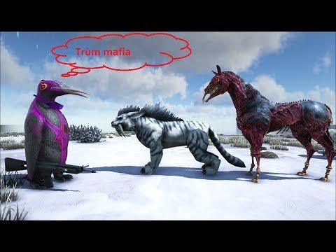 ARK SURVIVAL EVOLVED #59: Linh thú Ngựa địa ngục,Cụt Mafia(Hell horse,sabertooth)