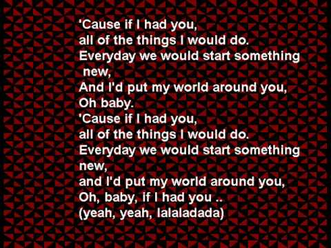 Claude Kelly- If I Had You with Lyrics
