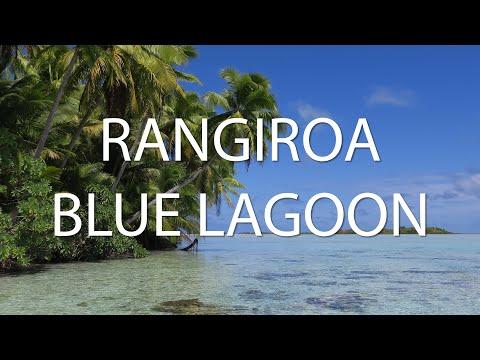 Rangiroa Blue Lagoon French Polynesia 4K