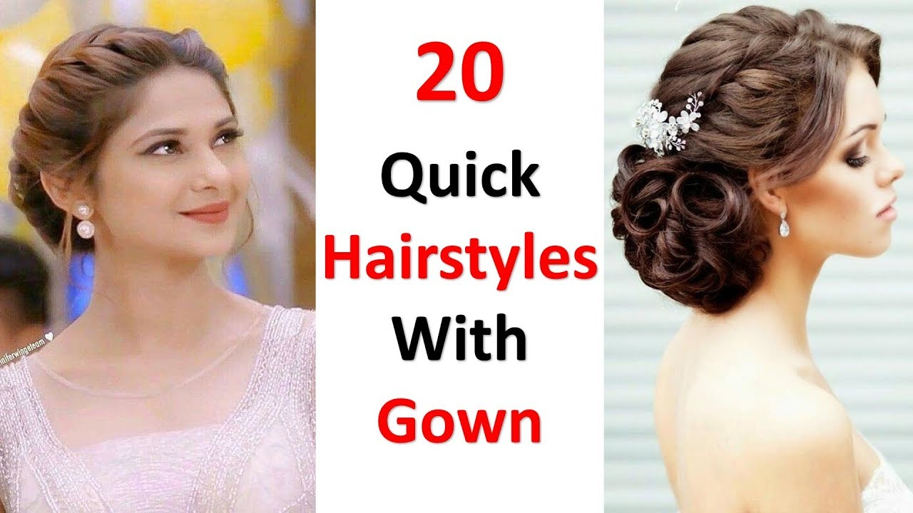 20 Different Hairstyles For Gown Cute Hairstyles Wedding