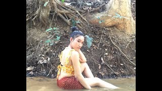 khmer Fishing | Beautiful Girl Fishing | Amazing Fishing at Siem Reap