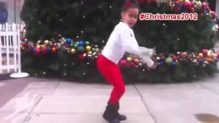 Asia Monet Ray dancing for Christmas #25DaysofChristmas