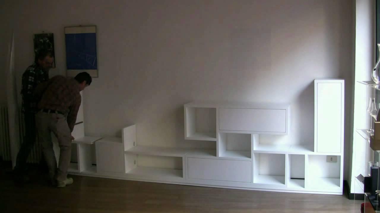 Still e still tv libreria modulare autoportante youtube for Libreria modulare