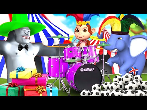 Funny Zoo Animals Circus Show | Forest Animals Videos | Funny Animals | 3D Animated Cartoons