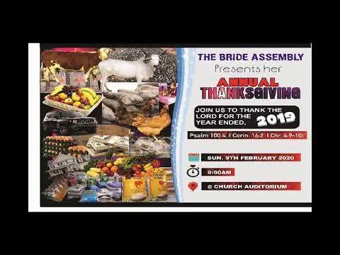 LIVE SERVICE: COVENANT VIGIL FRI. 24TH JAN., 2020 BRIDE ASSEMBLY