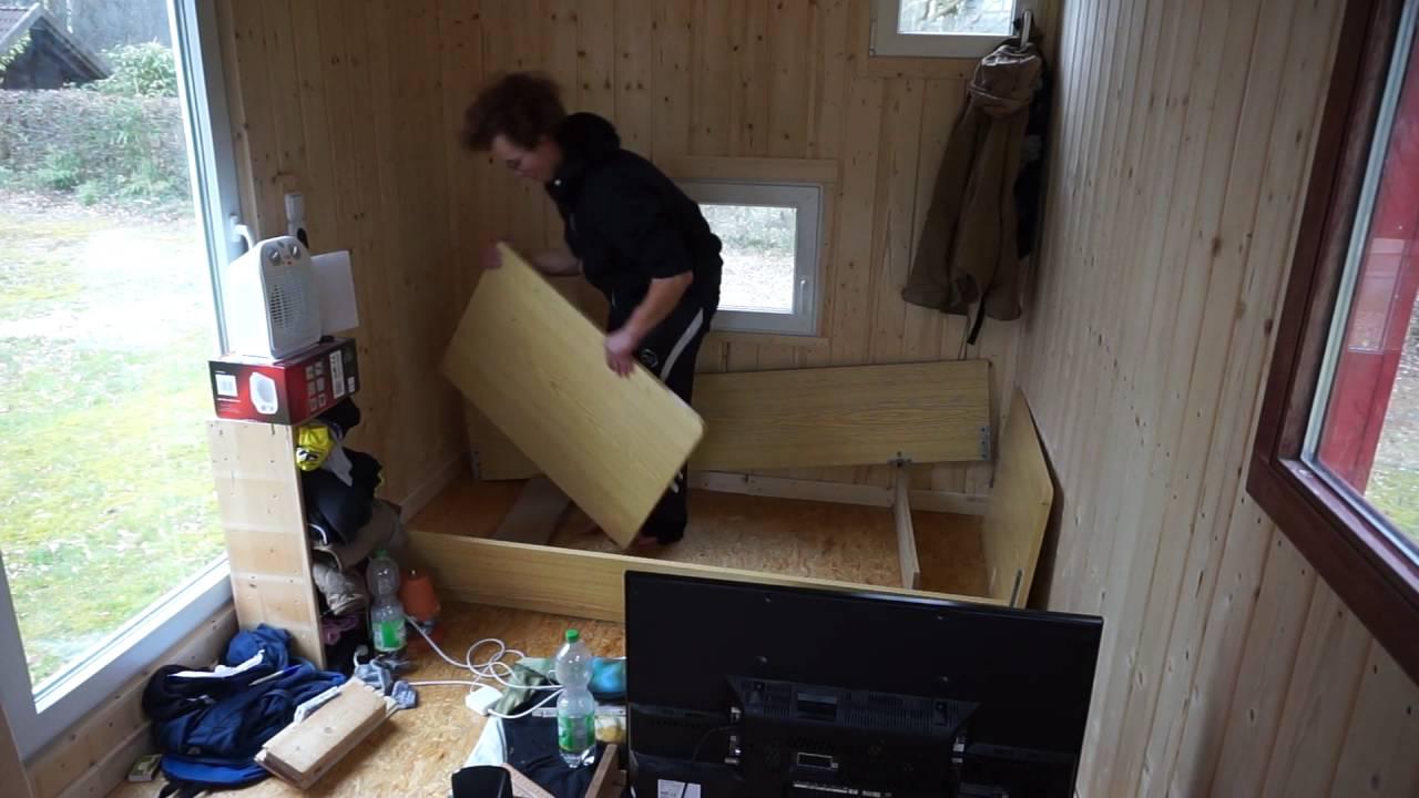zimmer halbieren umbauen i bett aufbauen tag 3 im bauwagen sch ner wohnen youtube. Black Bedroom Furniture Sets. Home Design Ideas