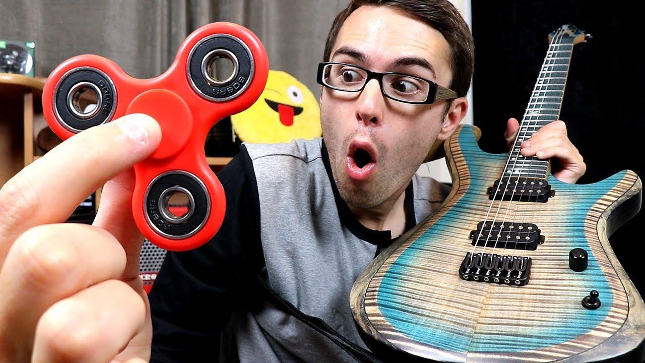 fidget spinner as a guitar pick youtube. Black Bedroom Furniture Sets. Home Design Ideas