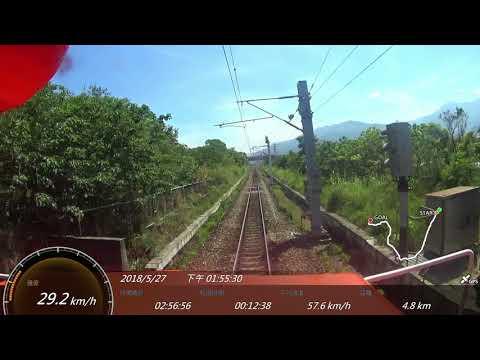 台鐵 52次觀光環島列車 台東 - 台北 SONY FDR-X1000V Action Cam GPS 參數資料 路程景