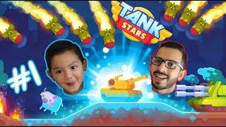 Tank Stars Gameplay   Batallas con Papa   Juegos Android Games