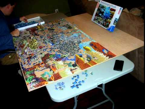 oceanic wonders puzzle 3000 piece time lapse youtube. Black Bedroom Furniture Sets. Home Design Ideas