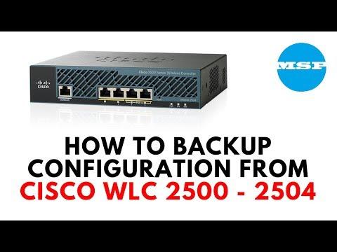 HOW TO BACKUP CISCO WLC 2500-2504 Configuration  - YouTube