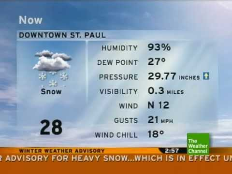 11-19-11 St. Paul, MN - TWC *Winter Weather Advisory* 2:57 pm