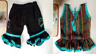 How To Make Pants For Bebis And Kid's Quick & Easy Kids Paint Titoriyal Diy Cutting And Stichnig ✂️🤩