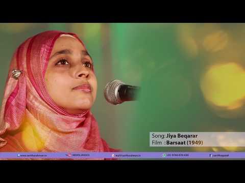 Jiya beqarar hai... LATA MANGESHKAR superhit song cover by saritha rahman