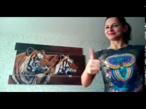 Модульные картины интернет магазин. Невероятные тигры!