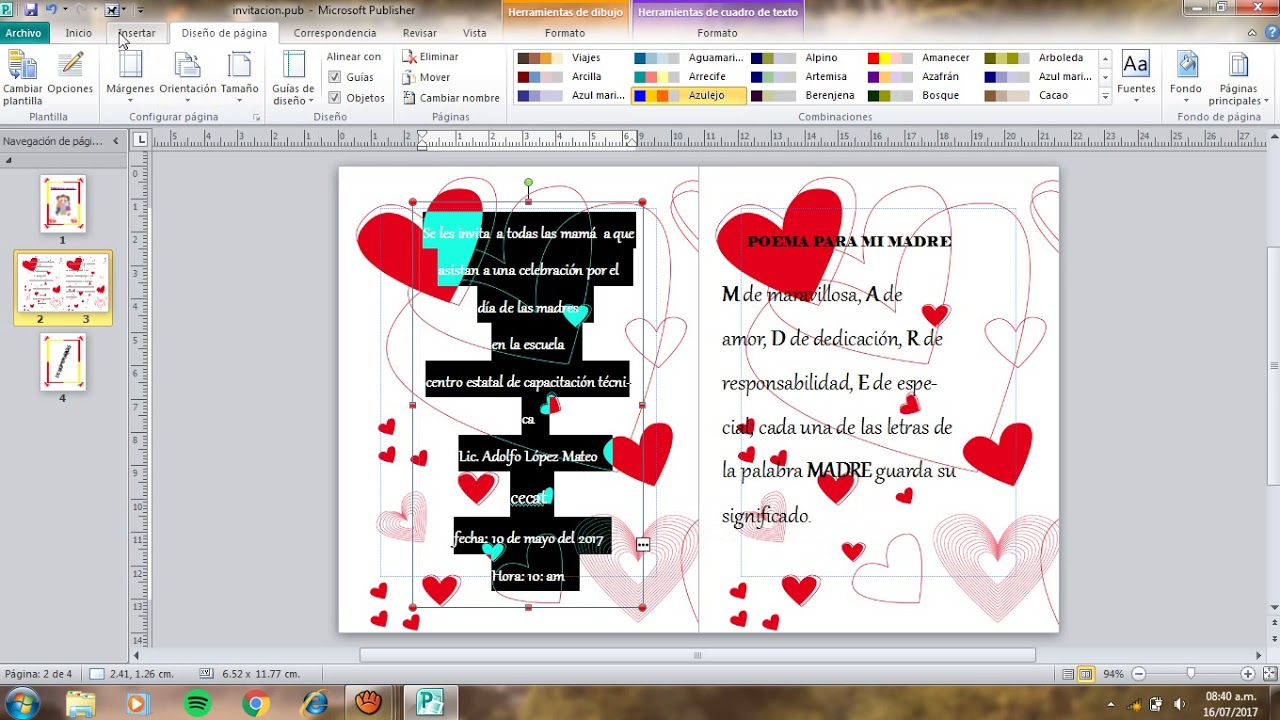 Publisher Tarjeta De Invitacion Youtube