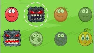 ИГРАЮ ЗА БОССА в  игре красный шарик  для детей про New Red Ball 4