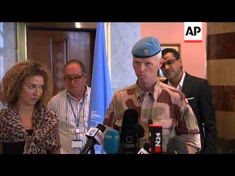 Head of UN Syria Observer Mission confirms heavy fighting in Tremseh