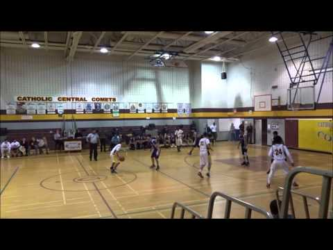 Massey Mustangs @ Catholic Central Comets Junior Boys Basketball 2015