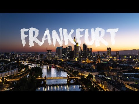 FRANKFURT a.M., Germany | Skyline at night Aerial Drone 4K Short Clip by thedronebook