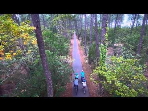 A vélo autour du Bassin