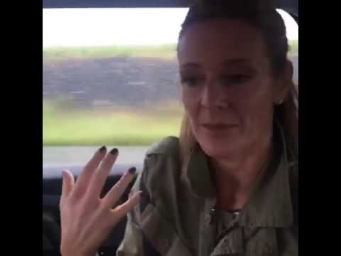 Gabby Logan at a French Toll Booth - Euro 2016