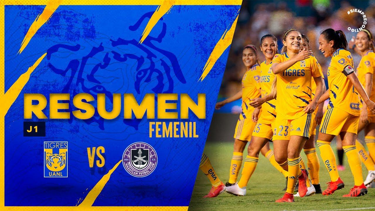 📹 El Resumen Femenil | Jornada 1, Tigres 2 - 0 Mazatlán