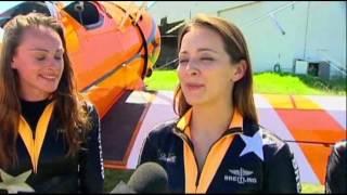 Raw: Women Walk Wings Over Australia
