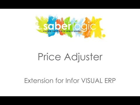 Price Adjuster Utility for Infor VISUAL ERP