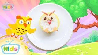Món ăn ngọt ngào: Hướng Dẫn Làm Bento Hình Con Cú - Bé vào bếp cùng mẹ | Nido Channel