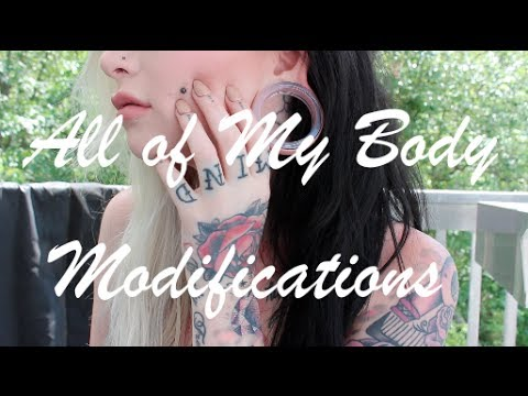 All Of My Body Modifications (Tattoos, Piercings, etc.) 2014