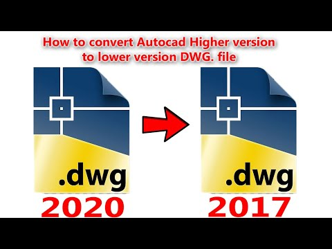How To Open Higher Version DWG File in Lower Version AutoCAD Program - QasimCAD - Tutorial#2