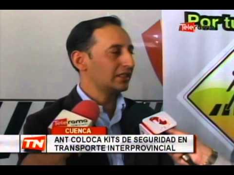 ANT coloca Kits de seguridad en transporte interprovincial